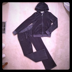 Juicy Couture velour pants and hoodie set